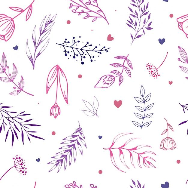 Teste padrão floral sem costura elegante