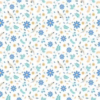 Teste padrão floral sem costura, folha de natureza