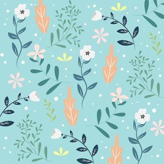 Teste padrão floral sem costura ou textura