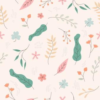 Teste padrão floral sem costura para papel de parede