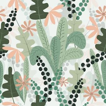 Teste padrão floral sem costura primavera tropical