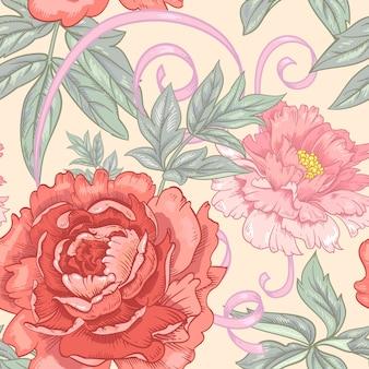 Teste padrão floral sem emenda do vetor