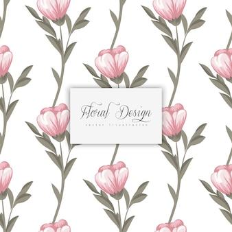 Teste padrão floral sem emenda na moda em