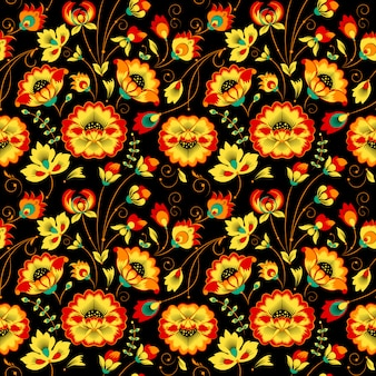 Teste padrão floral sem emenda no estilo country