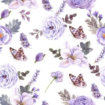 Teste padrão floral sem emenda.