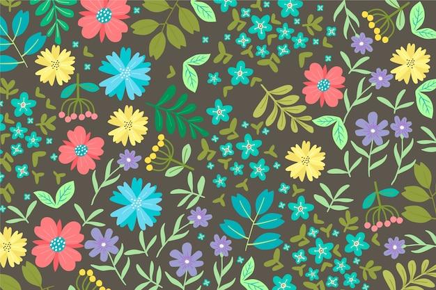 Teste padrão floral servindo colorido
