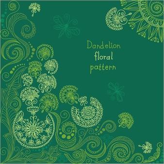 Teste padrão floral verde vetor