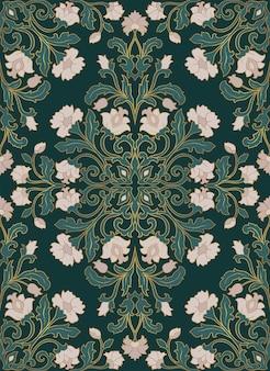 Teste padrão floral verde