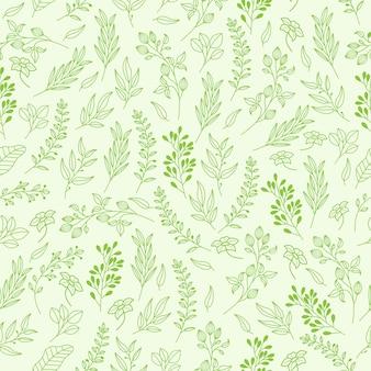 Teste padrão floral vetor em estilo elegante