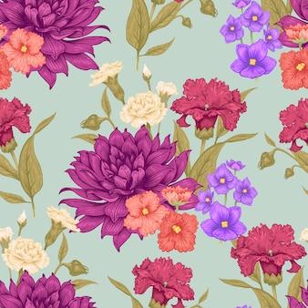 Teste padrão floral vetor sem emenda.