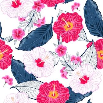 Teste padrão floral vetor sem emenda