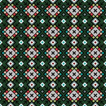Teste padrão geométrico decorativo em cores verdes brilhantes, ilustração vetorial