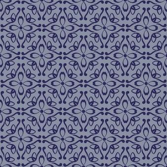 Teste padrão geométrico floral abstrato sem emenda.