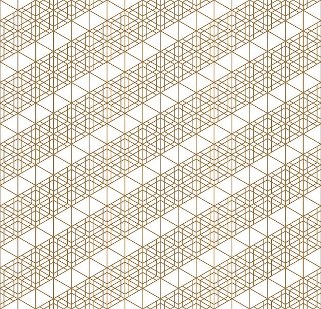 Teste padrão geométrico sem costura japonesa.