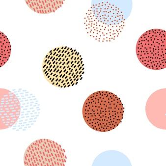 Teste padrão gráfico colorido estilizado sem emenda
