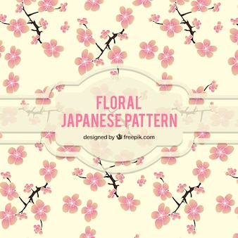 Teste padrão japonês floral