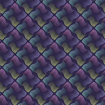Teste padrão ondulado sem emenda das listras com fundo escuro. vector repetindo com linhas onduladas.