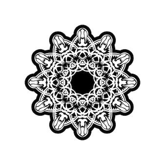 Teste padrão ornamental para convites de casamento, cartões comemorativos. decoração tradicional em contraste. mandala.
