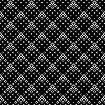 Teste padrão quadrado preto e branco abstrato sem emenda