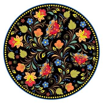 Teste padrão russian tradicional floral.