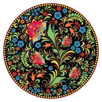 Teste padrão russo tradicional floral