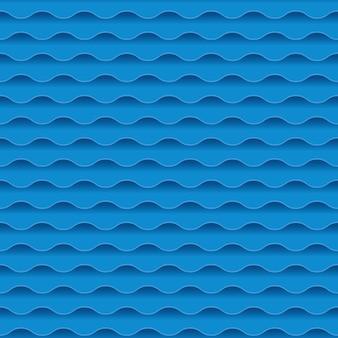 Teste padrão sem aparência da geometria azul do sumário da água do mar. fundo de onda de água. ilustração. elemento de design.