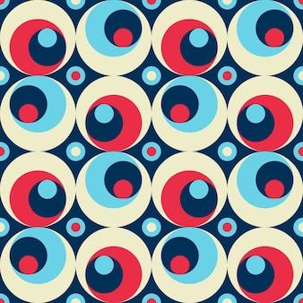 Teste padrão sem emenda colorido geométrico abstrato do estilo retro.