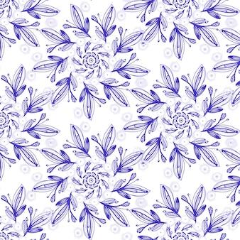 Teste padrão sem emenda da flor do inverno da mandala