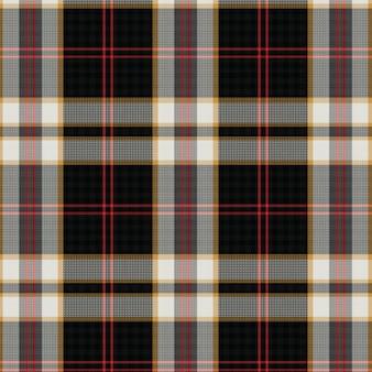 Teste padrão sem emenda da manta de tartan escocesa tecida