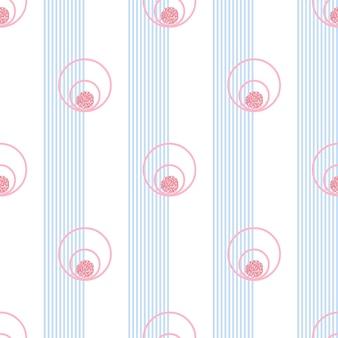 Teste padrão sem emenda do círculo do brilho cor-de-rosa no fundo da listra