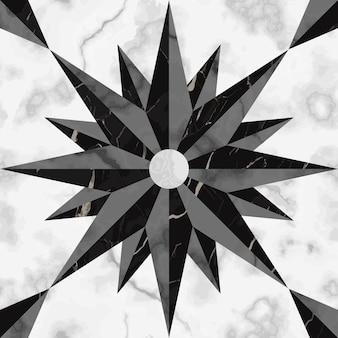 Teste padrão sem emenda do sinal da bússola em mármore repita os elementos da superfície da rosa-dos-ventos em mármore fundo moderno