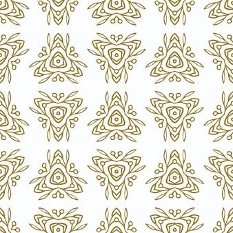 Teste padrão sem emenda do vintage com ornamento étnico do ouro. ornamento no estilo oriental