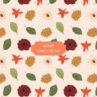 Teste padrão sem emenda floral bonito do outono