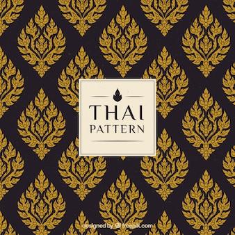 Teste padrão tailandês criativo elegante