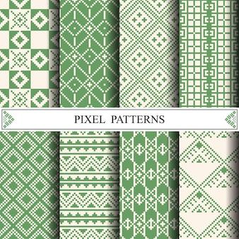 Teste padrão tailandês do pixel para fazer a matéria têxtil da tela