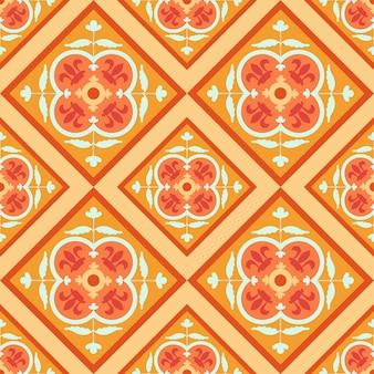 Teste padrão tradicional geométrico árabe colorido sem emenda do vetor.