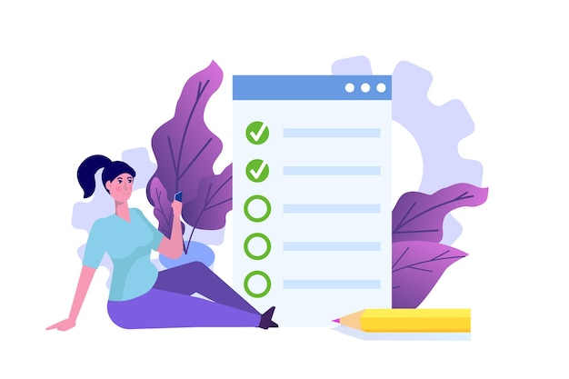 Testes online, e-learning, pessoas com conceito de educação estão estudando o formulário de inscrição.
