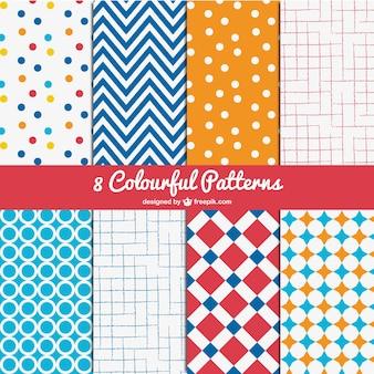 Testes padrões coloridos embalar