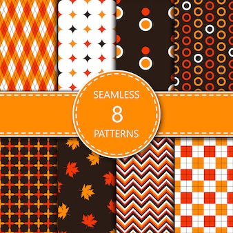 Testes padrões geométricos abstratos com cores laranja, amarelo, branco e marrom