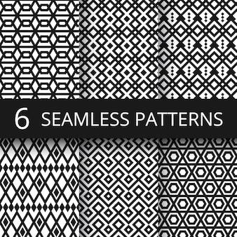 Testes padrões sem emenda do vetor geométrico árabe abstrato. arquitetura árabe islâmica repetindo textura