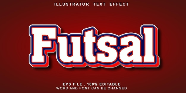 Text-effect-editable-futsal