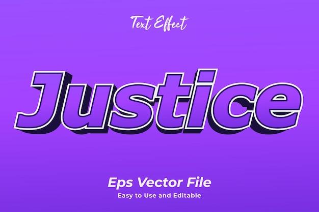 Text effect justice editável e fácil de usar premium vector