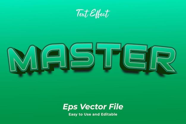 Text effect master editável e fácil de usar vetor premium