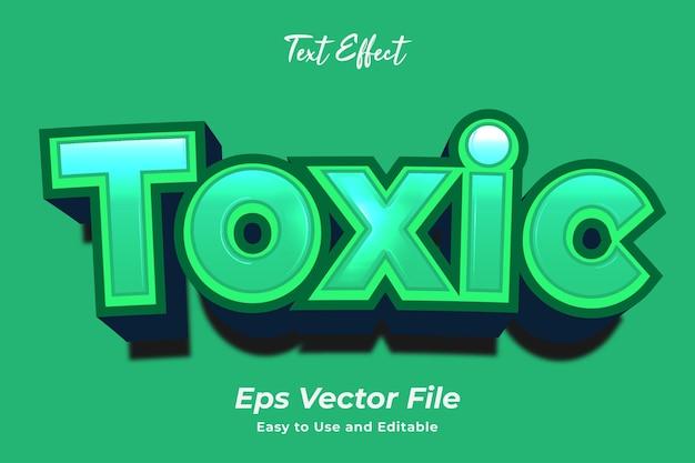 Text effect toxic editável e fácil de usar premium vector