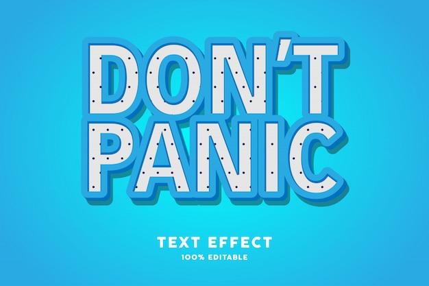 Texto 3d azul com polkadots - efeito de texto, texto editável