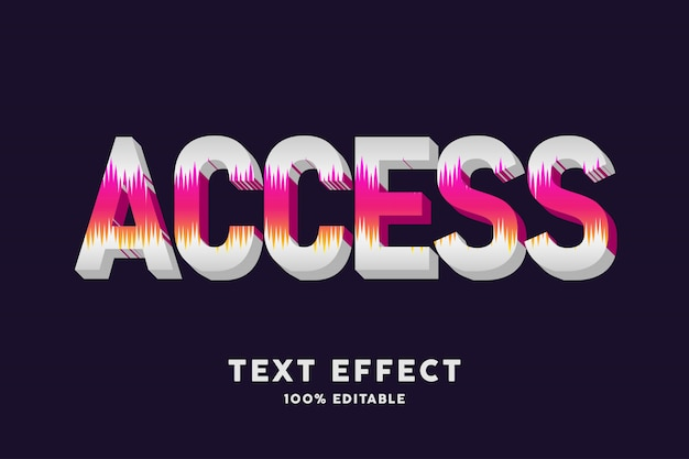 Texto 3d branco com efeito de texto de formas de cone vermelho