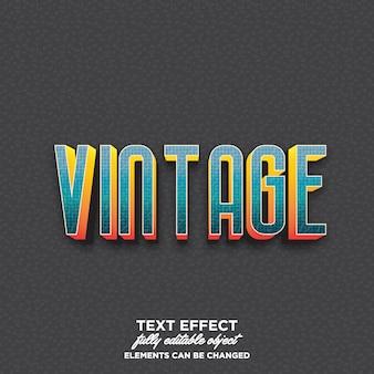Texto 3d colorido com estilo vintage
