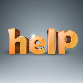 Texto 3d de ajuda de negócios