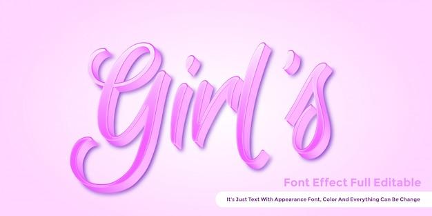 Texto 3d rosa fofo