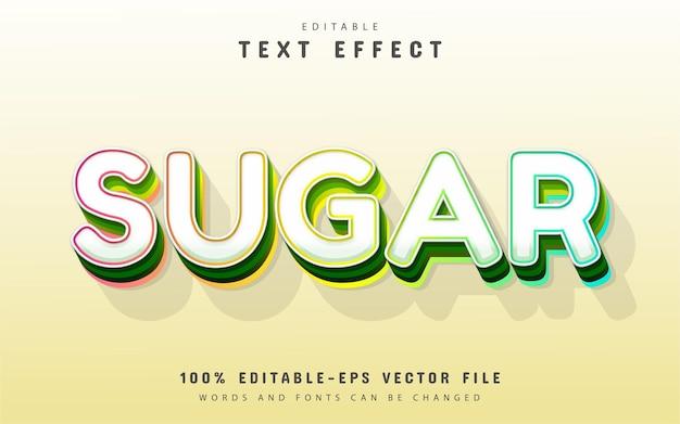 Texto açucarado, efeito de texto 3d editável